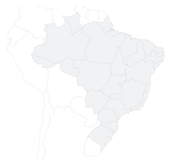 Regionais – Clique na região desejada para ver as unidades