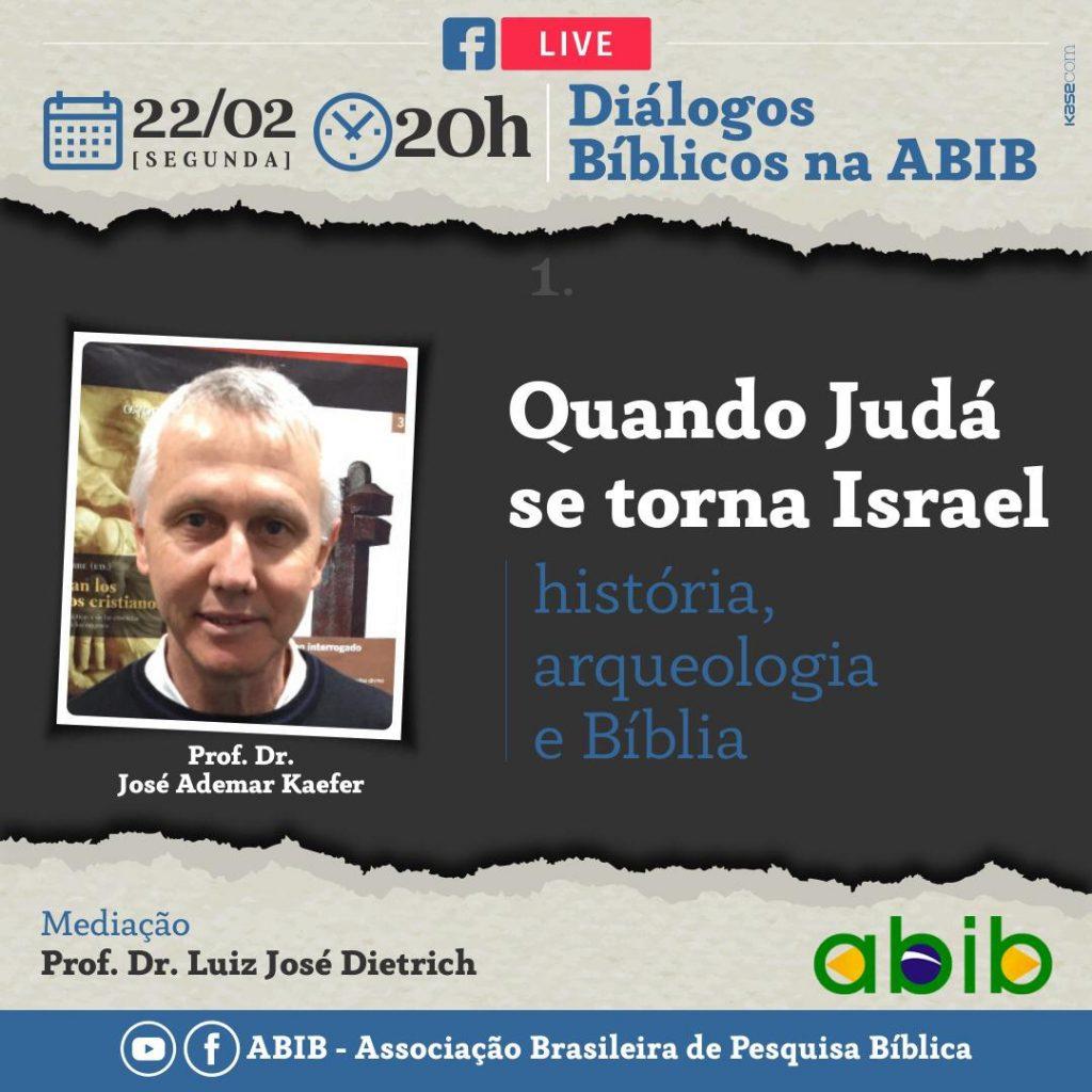 """Live: Diálogos da Abib """"Quando Judá se torna Israel"""""""