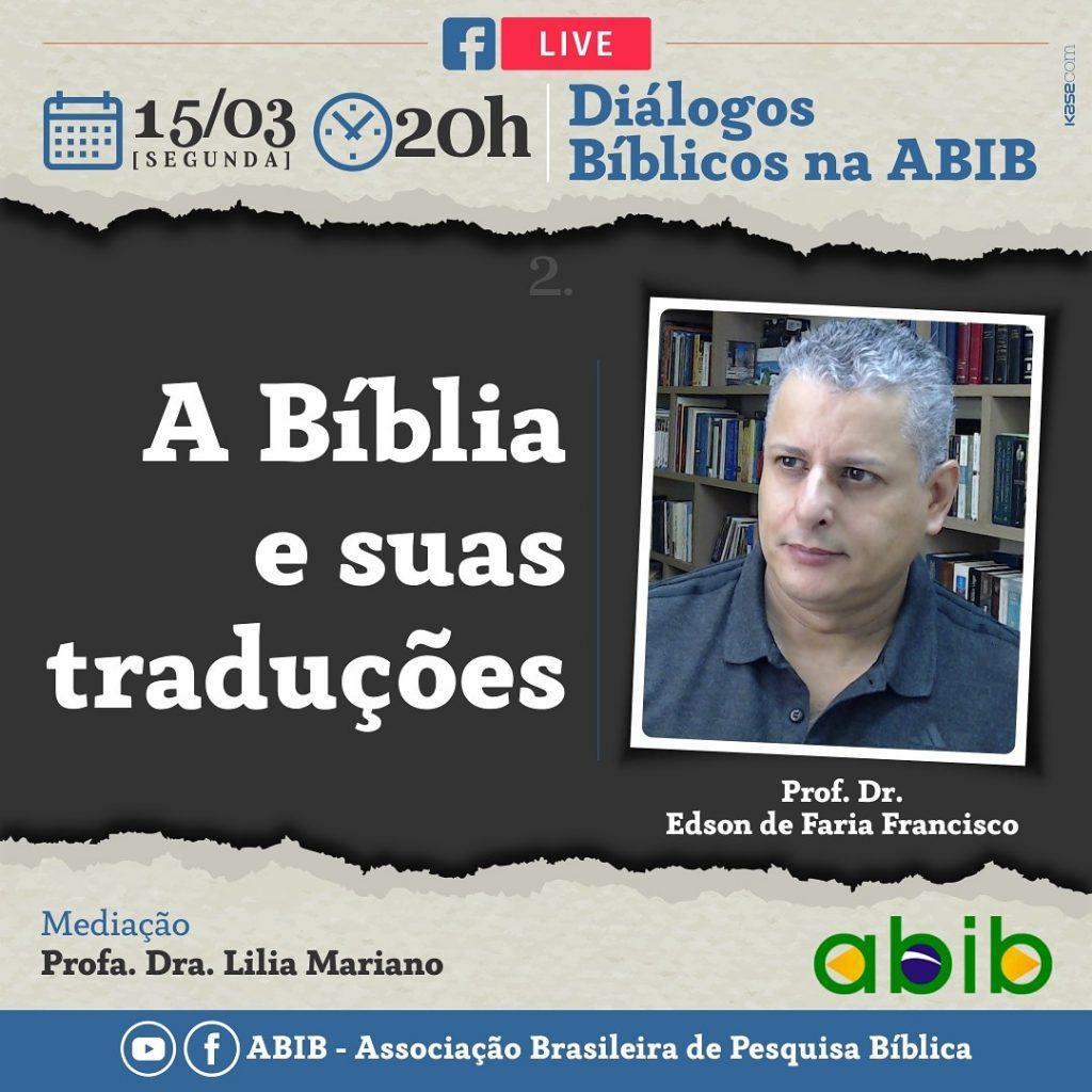 Assista a Live: A Bíblia e sua traduções